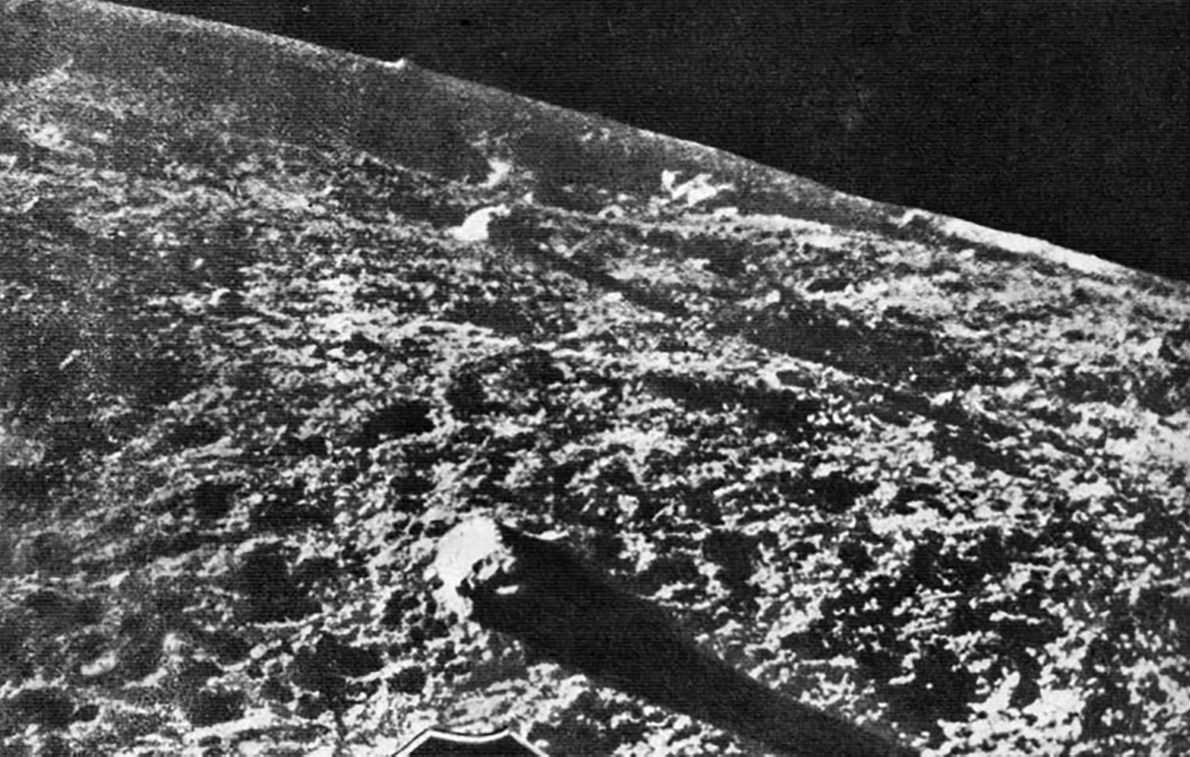 Luna 9 unencrypted photo transmission from moon.