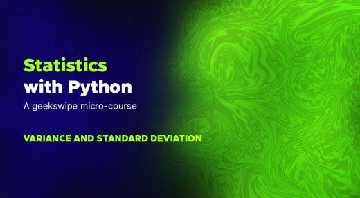 Python statistics course image.