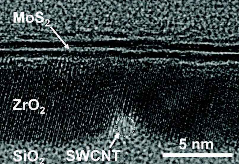 Smallest transistor built with 1 nanometre carbon nanotube gate