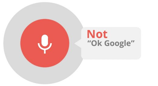 Wordplay with 'Ok Google' screenshot that says 'Not Okay Google'.