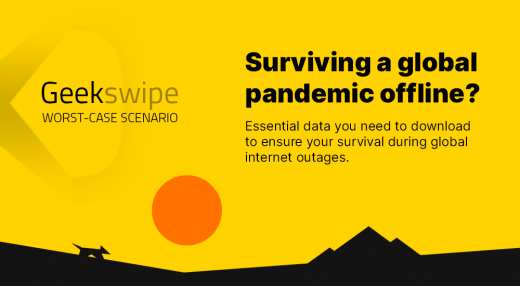 Worst-case scenario analysis of critical data that should be downloaded for offline use during a global internet outage caused by a global pandemic.