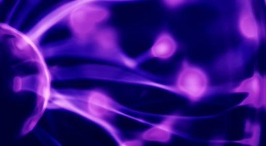 Photograph of Plasma showing the bluish glow due to the presence of oxygen and nitrogen.