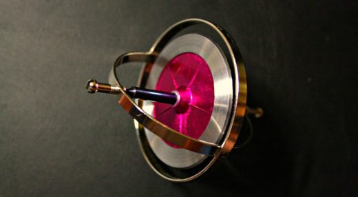 A simple toy gyroscope.