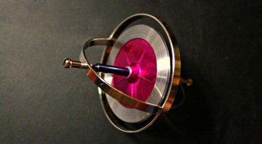 A simple toy gyroscope.