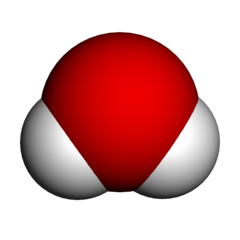 3D representation of water molecule