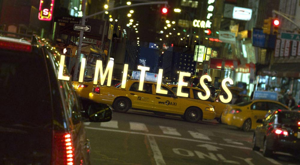 The intro title from Limitless movie
