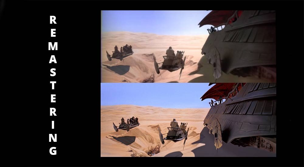 Star wars digital remastering comparison.